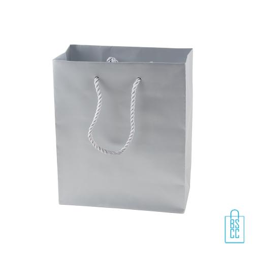 Gelamineerde papieren draagtas bedrukken zilver