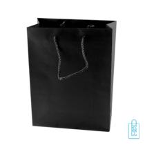 Gelamineerde papieren tas bedrukken zwart