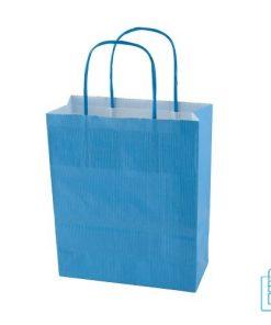 Kraft draagtas color bedrukken blauw