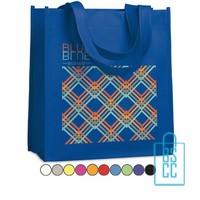 Non woven tasje goedkoop bedrukken, tassen bedrukken, tasjes bedrukt, blauw