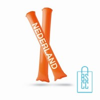 Opblaasbare cheering sticks bedrukken oranjeartikel
