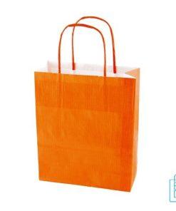 Papieren kraft color bedrukken oranje