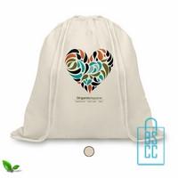 Biologisch katoenen rugzakje bedrukken, duurzaam tasje bedrukt, goedkope milieuvriendelijke tas