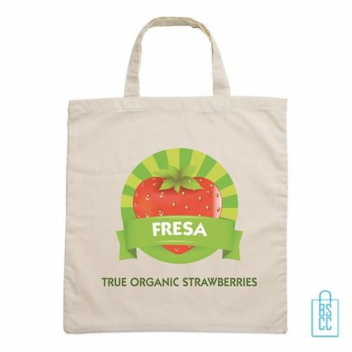 Biologisch katoenen tas met logo, duurzaam tasje bedrukt, goedkope milieuvriendelijke tas