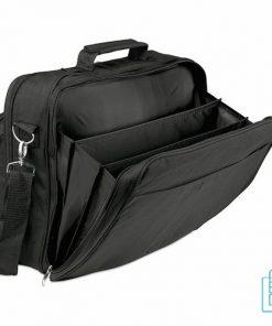 Laptoptas 14 inch multifunctioneel bedrukken zwart veel vakken, laptoptas bedrukt, goedkope laptoptas met logo