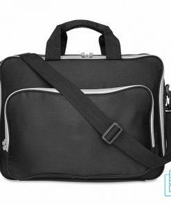 Laptoptas 15 inch gekleurd bedrukken zwart, laptoptas bedrukt, goedkope laptoptas met logo