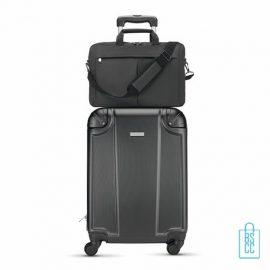 Laptoptas 15 inch luxe bedrukken op trolly, laptoptas bedrukt, goedkope laptoptas met logo