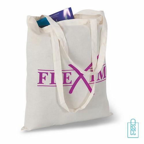 Milieuvriendelijke cotton boodschappentas bedrukt, duurzaam tasje bedrukt, goedkope milieuvriendelijke tas