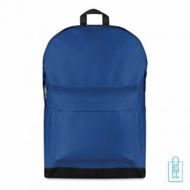 Rugzak budget bedrukken blauw, blauwe rugzak bedrukt, goedkope rugzak bestellen