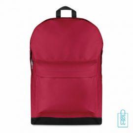 Rugzak budget bedrukken rood, rode rugzak bedrukt, goedkope rugzak bestellen