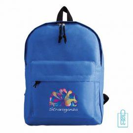 Rugzak goedkoop bedrukt blauw, blauwe rugzak bedrukken, goedkope eastpack rugtas bedrukken