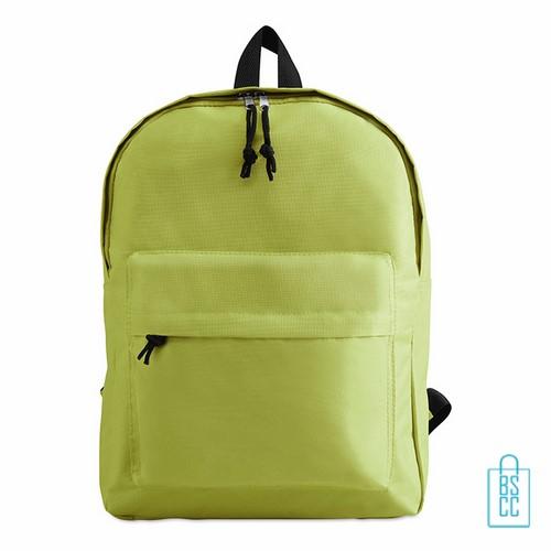 Rugzak goedkoop bedrukt groen, groene rugzak bedrukken, goedkope eastpack rugtas bedrukken