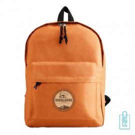 Rugzak goedkoop bedrukt oranje, oranje rugzak bedrukken, goedkope eastpack rugtas bedrukken, oranjeartikelen bedrukken