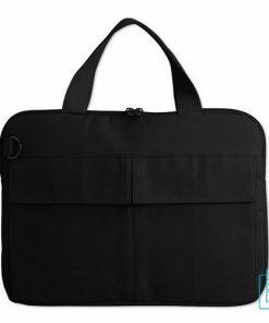laptoptas-14-inch-zware-kwaliteit zwart bedrukken goedkoop, laptoptas bedrukt, goedkope laptoptas met logo