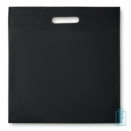Documententas non woven bedrukken zwart, documententas bedrukken, documententas bedrukt, tassen bedrukken
