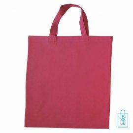 Katoenen draagtas gekleurd bedrukken roze, katoenen tassen bedrukt, goedkope katoenen tas met logo