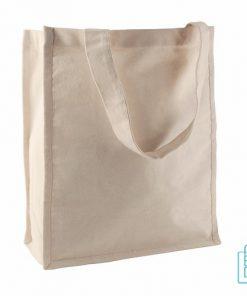 Katoenen shopper ecru bedrukken goedkoop, katoenen tassen bedrukt, goedkope katoenen tas met logo