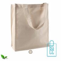 Katoenen shopper ecru bedrukken, katoenen tassen bedrukt, goedkope katoenen tas met logo