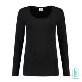 Longsleeve Dames Goedkoop bedrukken zwart, longsleeve bedrukt, bedrukte longsleeve met logo