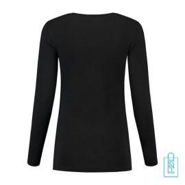 Longsleeve Dames Goedkoop bedrukt zwart, longsleeve bedrukt, bedrukte longsleeve met logo