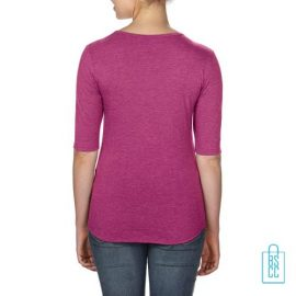 Longsleeve Dames lage hals bedrukt met logo, longsleeve bedrukt, bedrukte longsleeve met logo