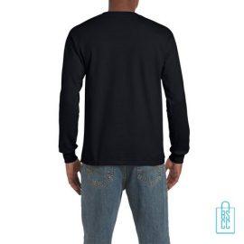 Longsleeve Heren Goedkoop bedrukt Zwart, longsleeve bedrukt, bedrukte lange mouw met logo