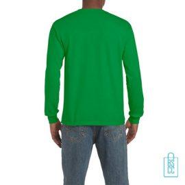 Longsleeve Heren Goedkoop bedrukt groen, longsleeve bedrukt, bedrukte lange mouw met logo