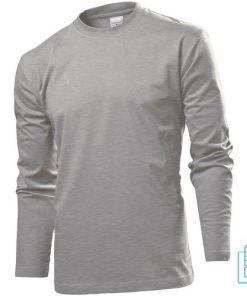Longsleeve Heren Lange mouw bedrukken grijs, longsleeve bedrukt, bedrukte longsleeve met logo