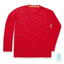 Longsleeve Heren Mesh bedrukken rood, longsleeve bedrukt, bedrukte longsleeve met logo