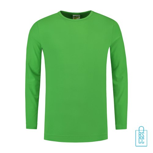 Longsleeve Heren Shirt bedrukken groen, longsleeve bedrukt, bedrukte longsleeve met logo