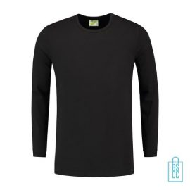 Longsleeve Heren Shirt bedrukken zwart, longsleeve bedrukt, bedrukte longsleeve met logo
