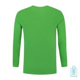 Longsleeve Heren Shirt bedrukt groen, longsleeve bedrukt, bedrukte longsleeve met logo