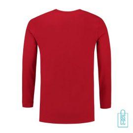 Longsleeve Heren Shirt bedrukt rood, longsleeve bedrukt, bedrukte longsleeve met logo
