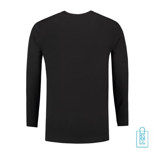 Longsleeve Heren Shirt bedrukt zwart, longsleeve bedrukt, bedrukte longsleeve met logo