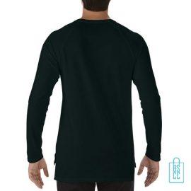 Longsleeve Heren basic bedrukt zwart, longsleeve bedrukt, bedrukte longsleeve met logo