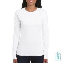 Longsleeve dames rond bedrukken wit, longsleeve bedrukt, bedrukte longsleeve met logo