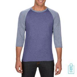 Longsleeve heren duo bedrukken blauw grijs, longsleeve bedrukt, bedrukte longsleeve met logo