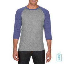 Longsleeve heren duo bedrukken grijs blauw, longsleeve bedrukt, bedrukte longsleeve met logo