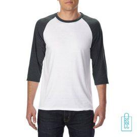 Longsleeve heren duo bedrukken wit grijs, longsleeve bedrukt, bedrukte longsleeve met logo
