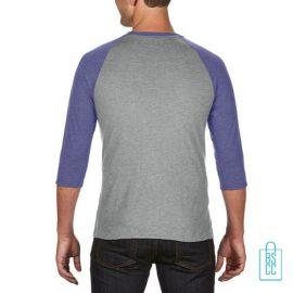 Longsleeve heren duo bedrukt grijs blauw, longsleeve bedrukt, bedrukte longsleeve met logo