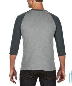 Longsleeve heren duo bedrukt grijs grijs, longsleeve bedrukt, bedrukte longsleeve met logo