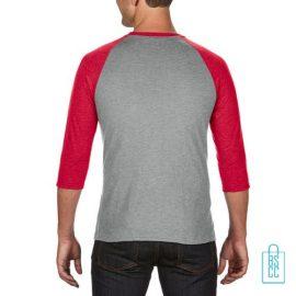 Longsleeve heren duo bedrukt grijs rood, longsleeve bedrukt, bedrukte longsleeve met logo