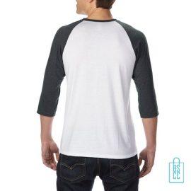Longsleeve heren duo bedrukt wit grijs, longsleeve bedrukt, bedrukte longsleeve met logo