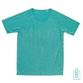 Sport-Shirt Heren Active Dry bedrukken aqua
