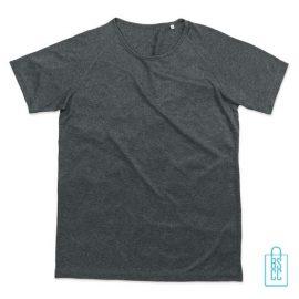 Sport-Shirt Heren Active Dry bedrukken grijs