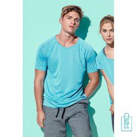 Sport-Shirt Heren Active Dry bedrukken met logo