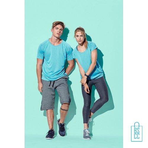 Sport-Shirt Heren Active Dry bedrukken met opdruk