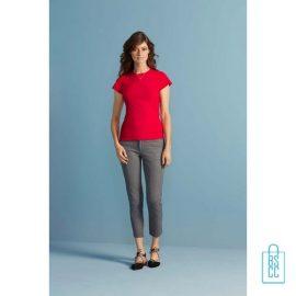 T-Shirt Dames Casual bedrukken met logo