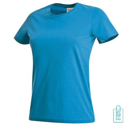 T-Shirt Dames Jersey bedrukken aqua