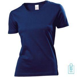 T-Shirt Dames Jersey bedrukken donkerblauw